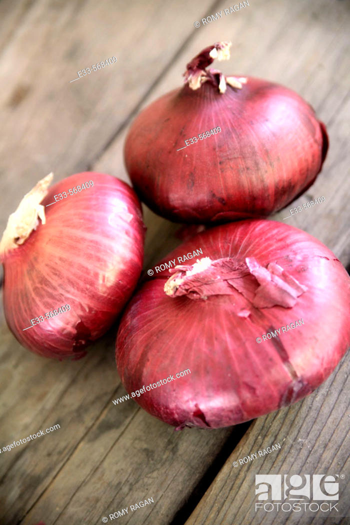 Photo de stock: Red onions.