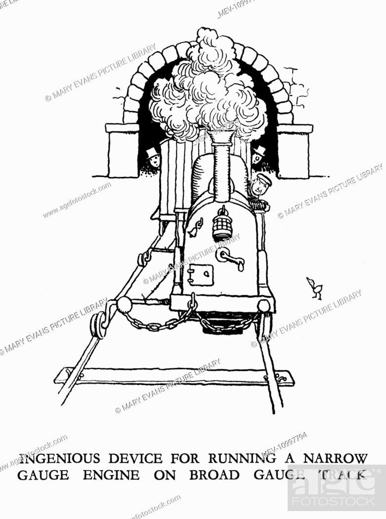 Vignette Illustration Railway Ribaldry By W Heath Robinson