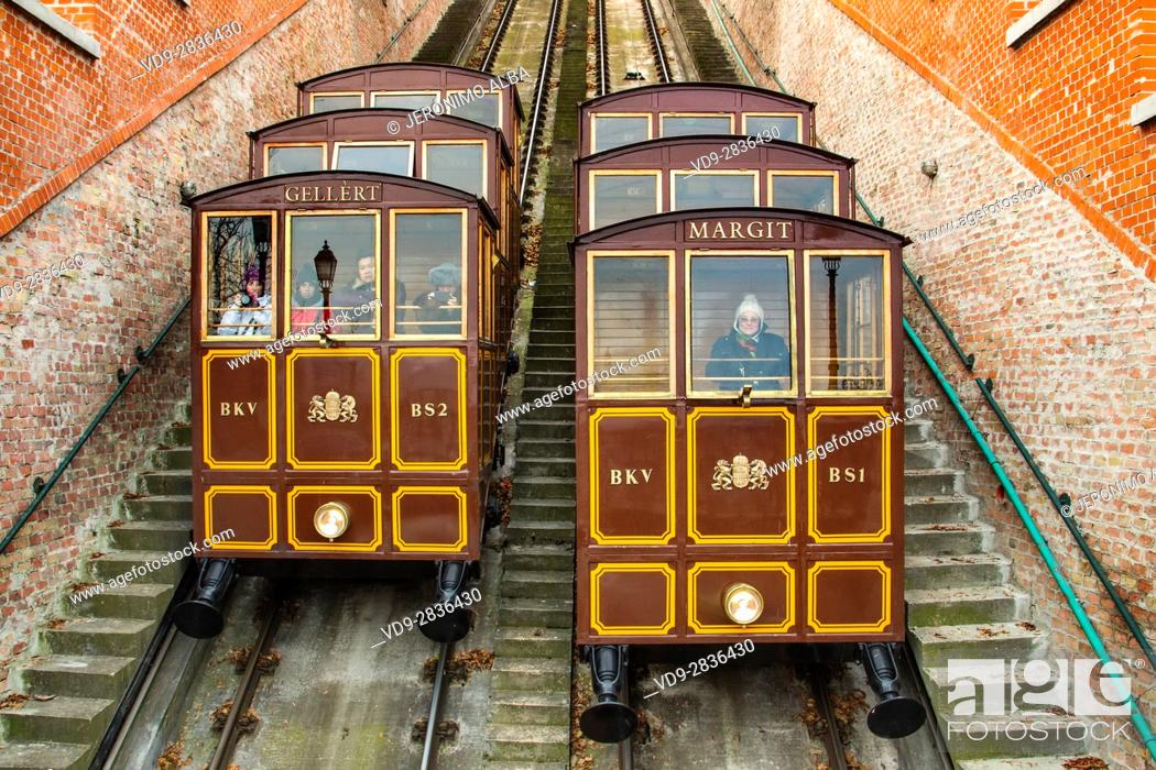 Imagen: Funicular to Castle Hill District. Budapest Hungary, Southeast Europe.