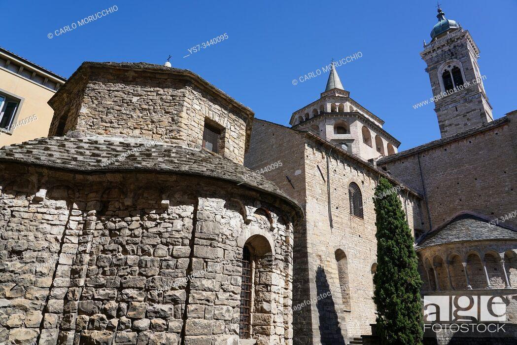 Photo de stock: Temple of Santa Croce and Santa Maria Maggiore Basilica, Bergamo, Lombardia, Italy, Europe.