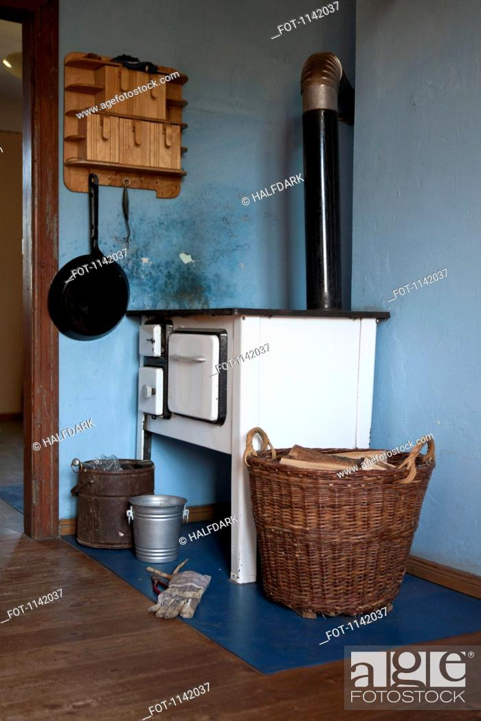 Stock Photo: Detail of an old-fashioned kitchen.