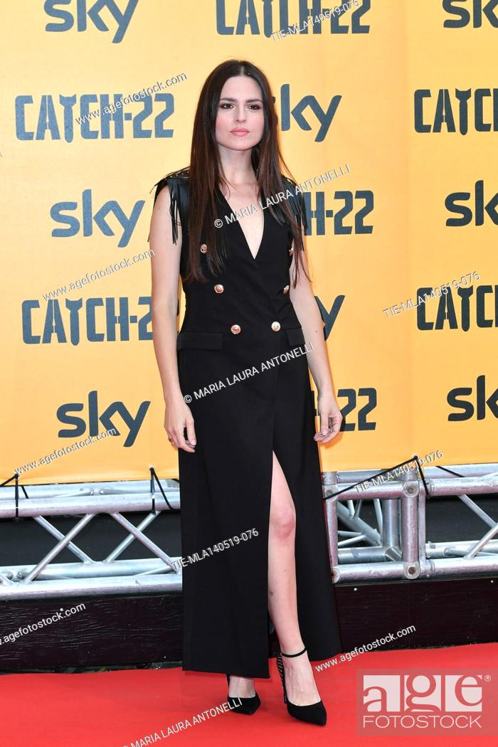 Stock Photo: Ivana Lotito during the Red carpet for the Premiere of film tv Catch-22, Rome, ITALY-13-05-2019.