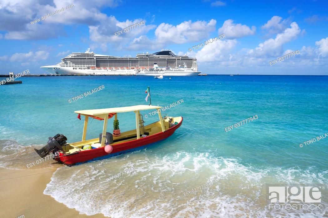 Stock Photo: Cozumel island beach in Riviera Maya of Mayan Mexico.