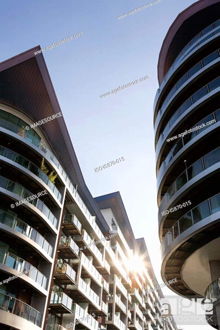 Stock Photo: Modern apartment buildings.