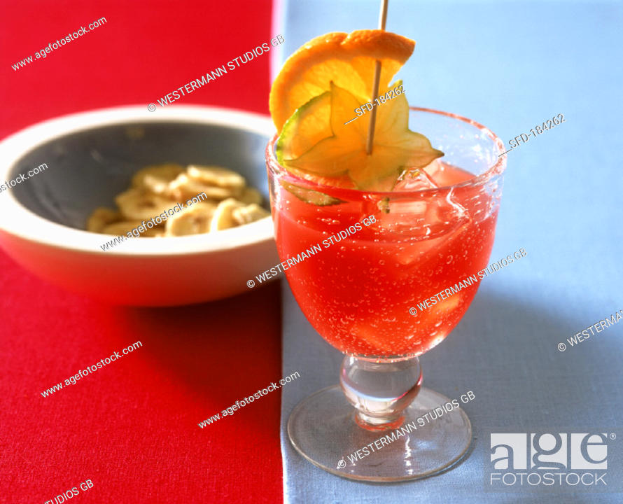 Planter's punch (well-known Caribbean tail), Stock Photo ... on