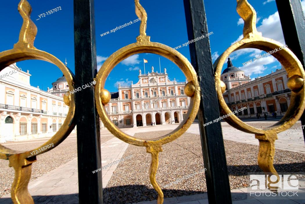 Stock Photo: The Royal Palace of Aranjuez Spanish: Palacio Real de Aranjuez is a residence of the King of Spain, located in the town of Aranjuez province of Madrid.