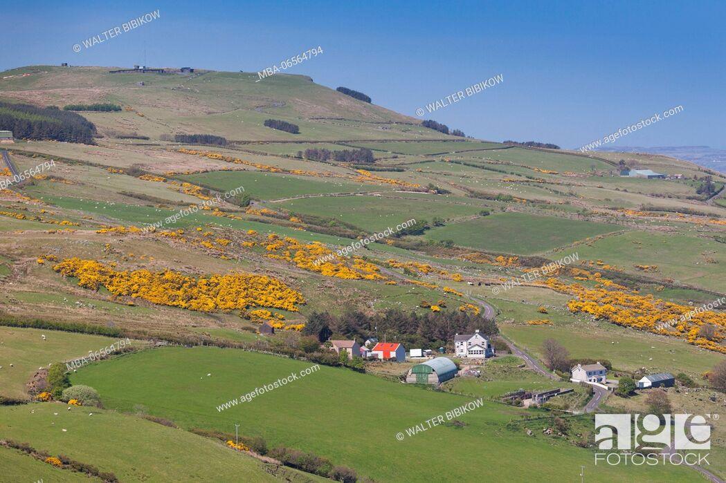 Stock Photo: UK, Northern Ireland, County Antrim, Torr Head, Torr Head Scenic Road, coastal landscape.