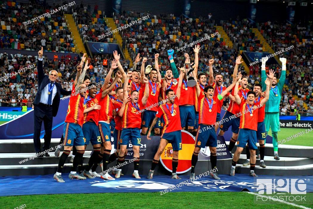 Stock Photo: July 1, 2019 - Italy - Foto IPP/alberto sabattini.Udine 30/06/2019.Europeo calcio Under 21 U21 2019 - Finale - Spagna vs Germania.