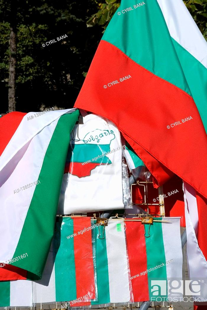 Stock Photo: Bulgaria - Sofia - Capital City - Flag.