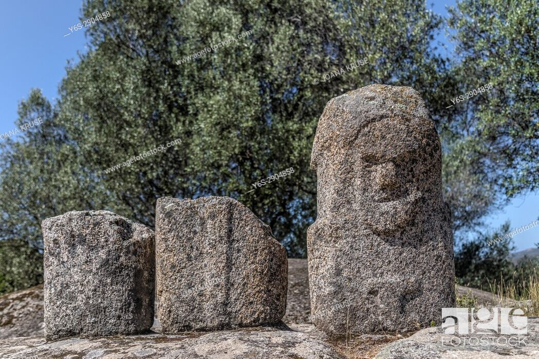 Stock Photo: Filitosa, menhirs, Corsica, France.