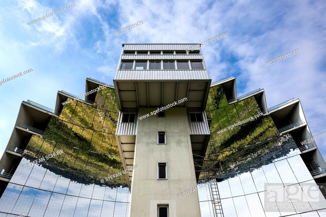 Stock Photo: France, Pyrenees-Orientales, Solar forge Four solaire d'Odeillo in Font-Romeu-Odeillo-Via.
