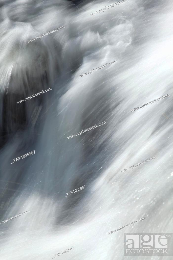 Stock Photo: Scotland, Scottish Highlands, Eas Chia-aig waterfall  Detail shot of the Eas Chia-aig waterfall.