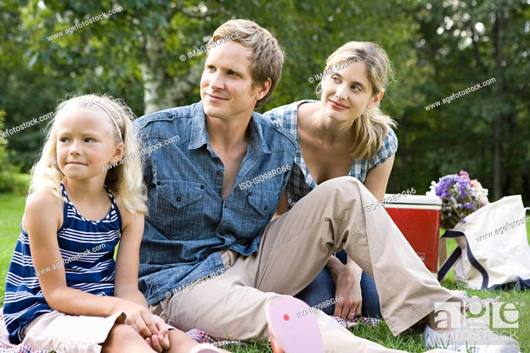 Stock Photo: Family in the park.