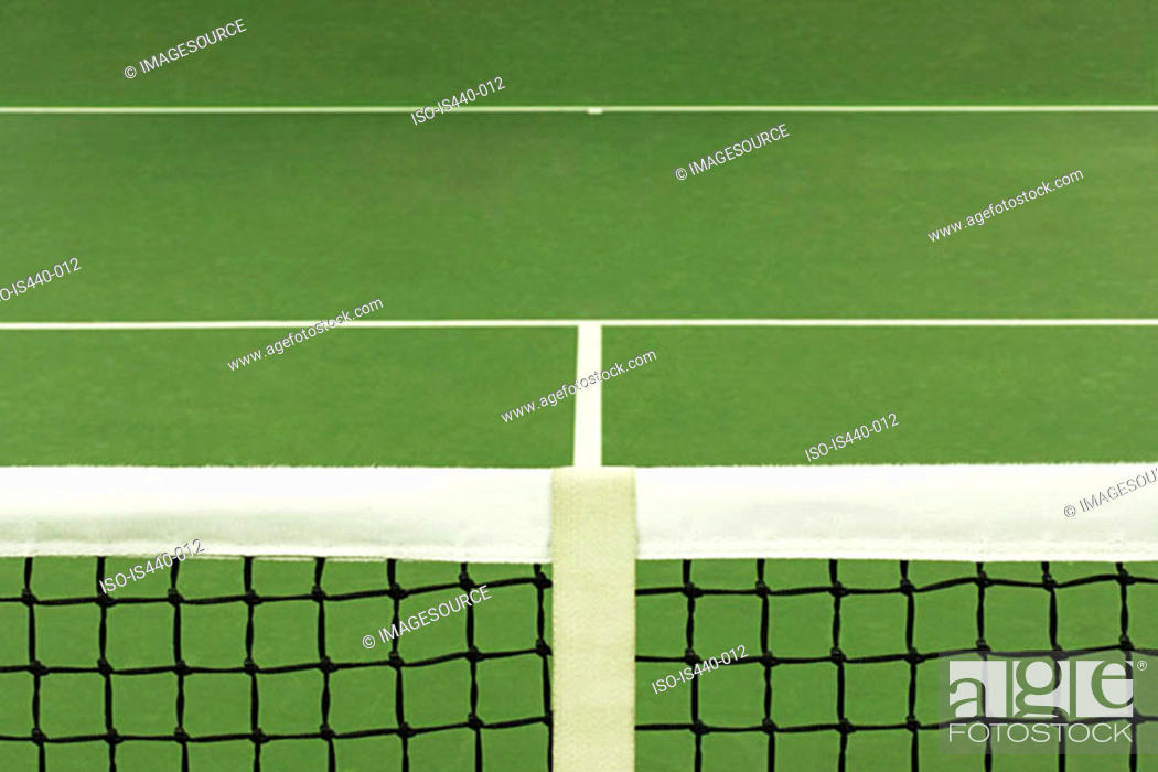 Stock Photo: Tennis court.