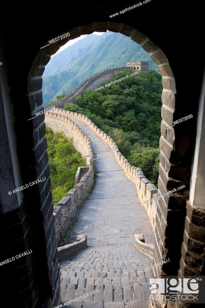 Stock Photo: China. Bejing. The Great Wall at Mutyanyu.