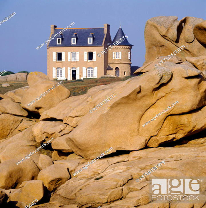 Stock Photo: Côte de Granit Rose, Britanny. France.