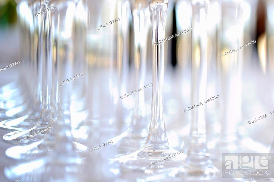 Stock Photo: Conceptual image of a set of crystal glasses.