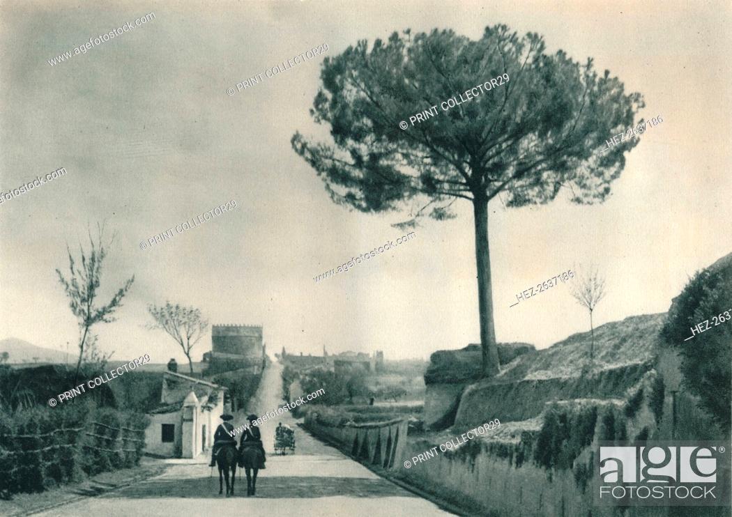 Stock Photo: The Via Appia (Appian Way), Rome, Italy, 1927. Artist: Eugen Poppel.