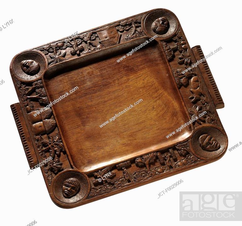 Stock Photo: World symbols: wooden tray Africa.