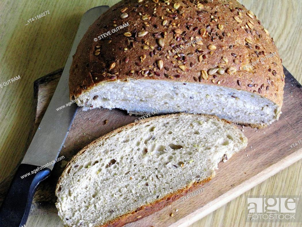 Stock Photo: Wholewheat Brown Bread.