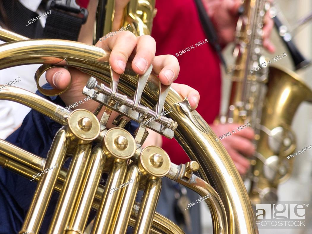 Stock Photo: Musical instruments in Portico de Romagna, Emilia-Romagna, Italy.