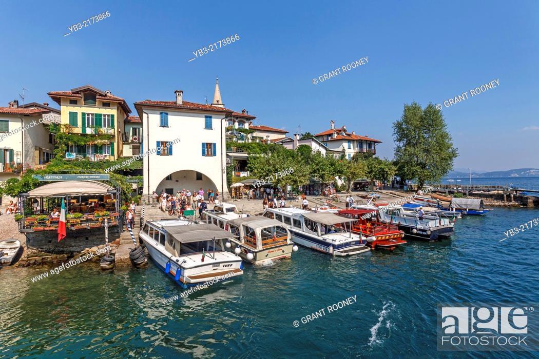 Stock Photo: Isola Dei Pescatori, Lake Maggiore, Lombardy, Italy.
