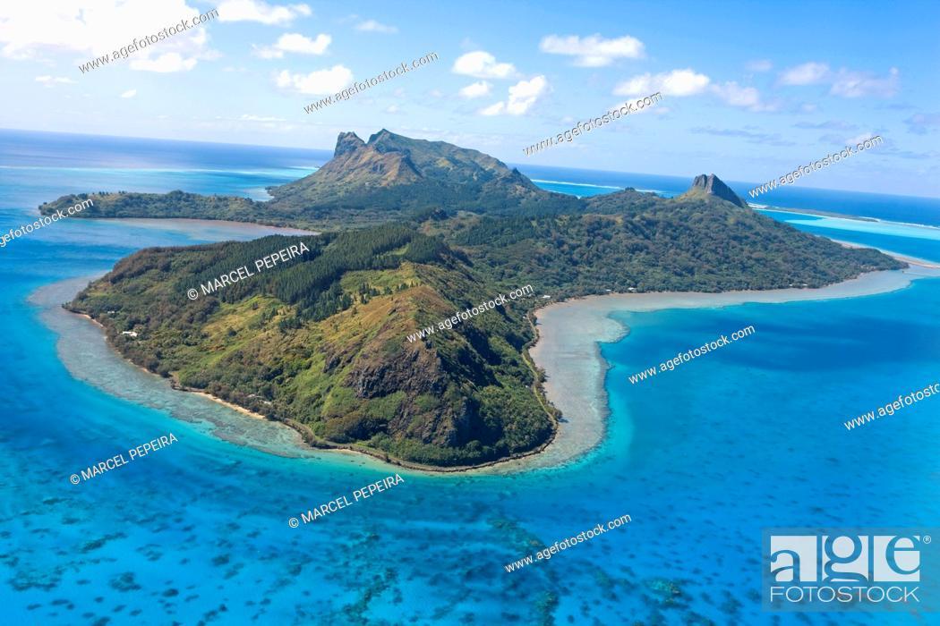 Stock Photo: French Polynesia, Austral islands, Raivavae island.