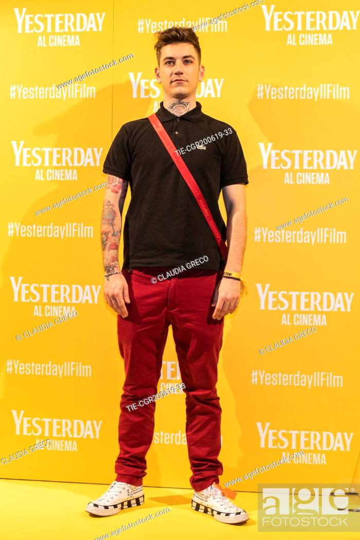 Imagen: Dani Faiv during the photocall of film ' Yesterday ' in Milan, ITALY-20-06-2019.
