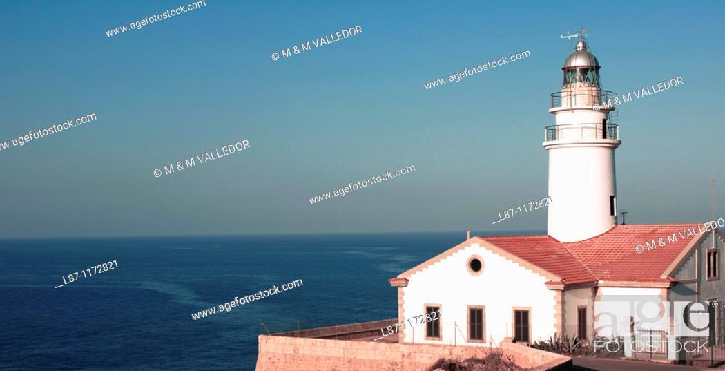 Stock Photo: Capdepera's lighthouse, Cala Ratjada Cala Rajada  Majorca  Balearic Islands  Spain.