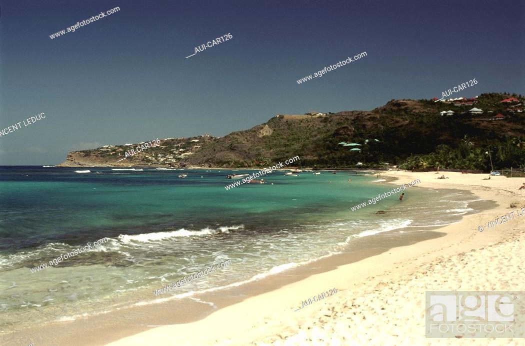 Stock Photo: French Caribbean - Caribbean Islands - Saint Barthelemy - St Jean Bay.