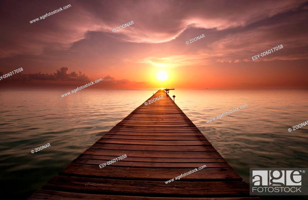 Stock Photo: Boardwalk on the beach.