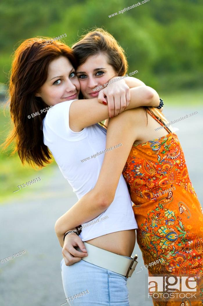 Stock Photo: Female affection.