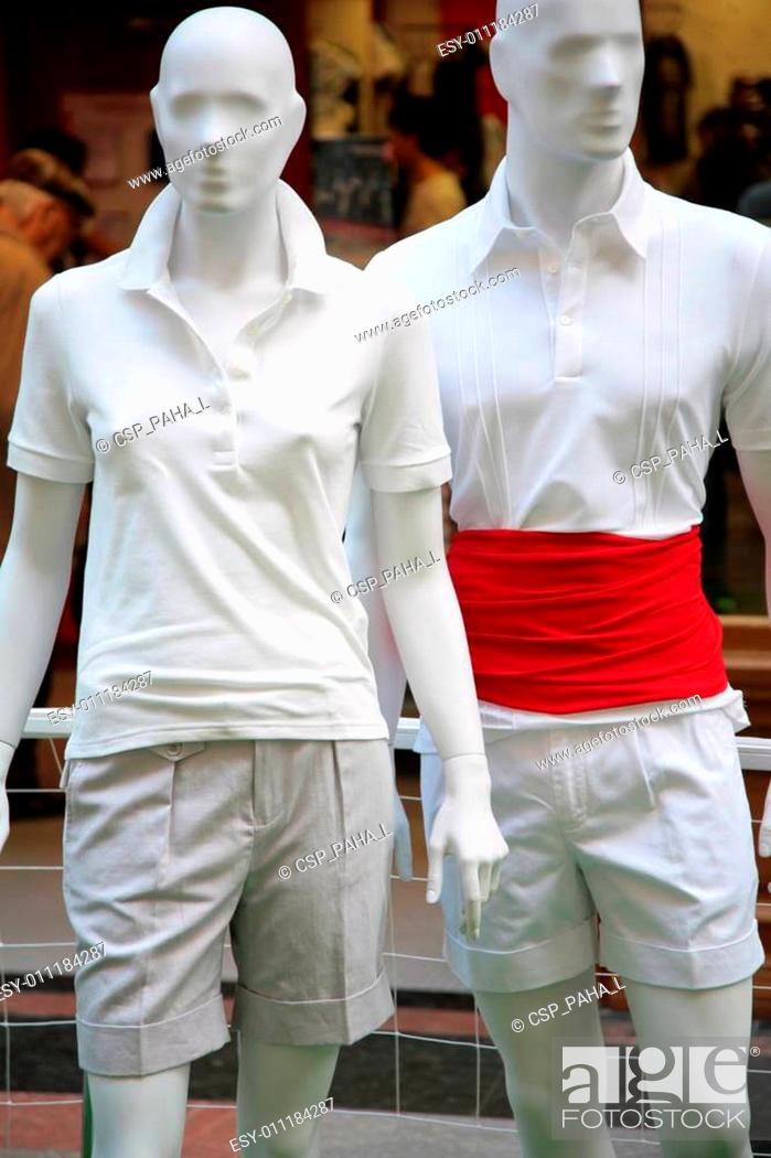 Stock Photo: two men mannequin.