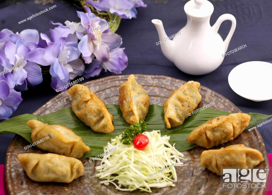 Stock Photo: dishes, Food styling, dish, dishes, dish, Chinese, toasted dumpling.