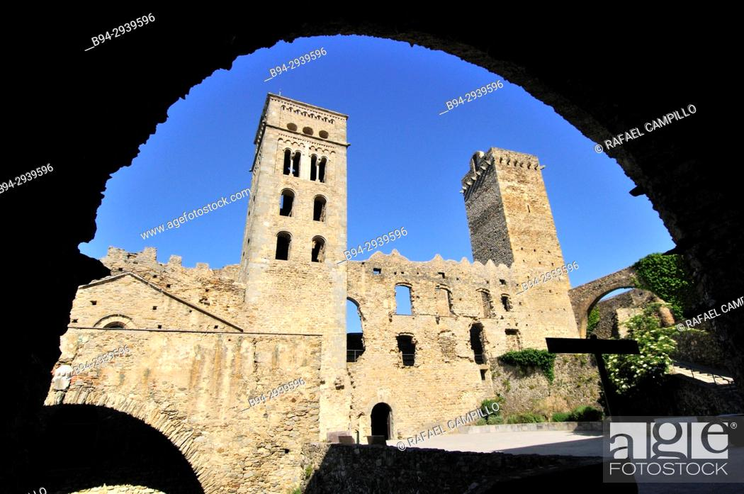 Stock Photo: Sant Pere de Rodes benedictine monastery, Port de la Selva. Alt Empordà, Girona province, Catalonia, Spain.