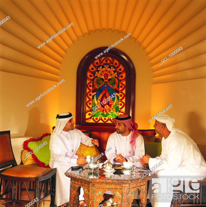 Stock Photo: Arab men in a business meeting.
