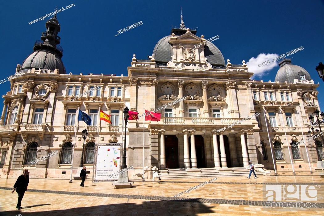 Stock Photo: Palacio Consistorial de Cartagena. Región de Murcia. España. Europa.