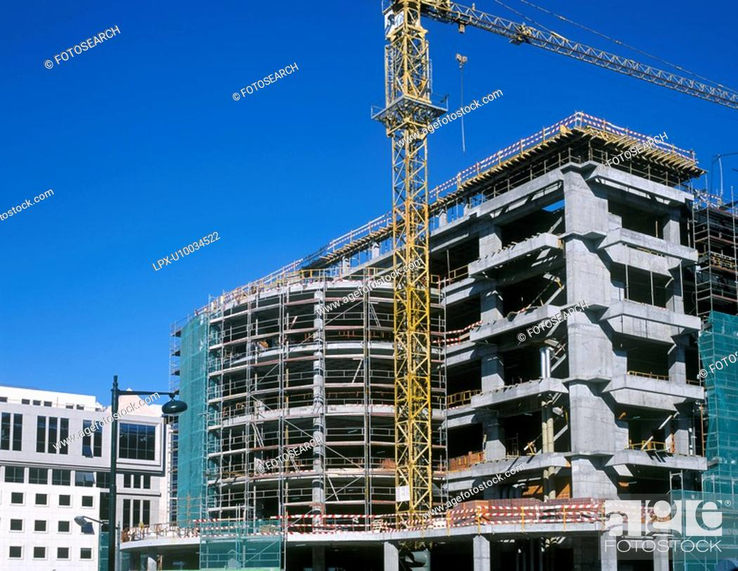 Stock Photo: Construction of shopping center.