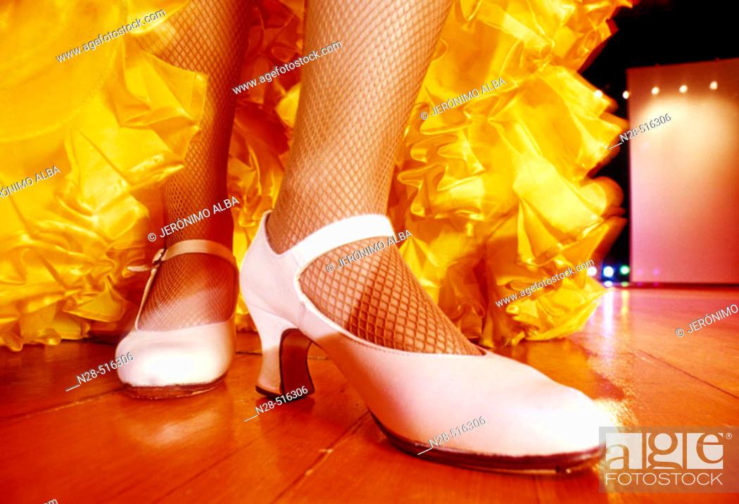 Stock Photo: Flamenco dance.