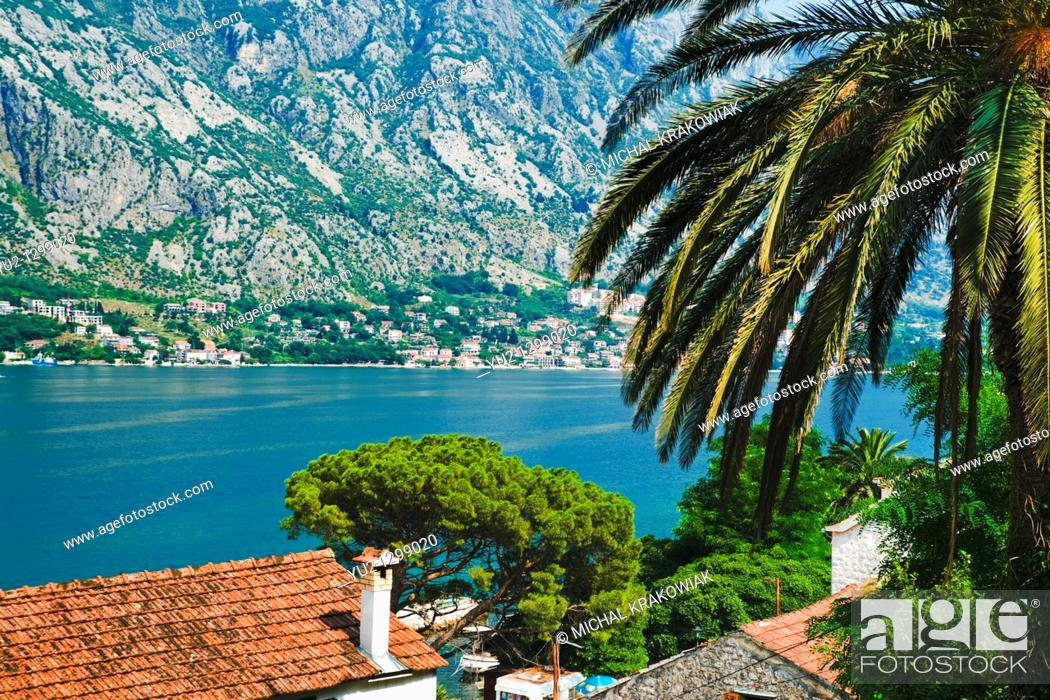 Stock Photo: View on Kotor Bay in Montenegro.
