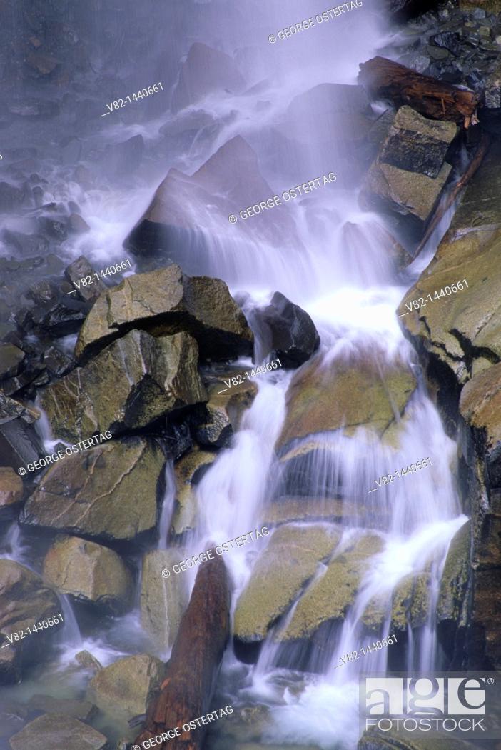 Stock Photo: Narada Falls, Mt Rainier National Park, WA.