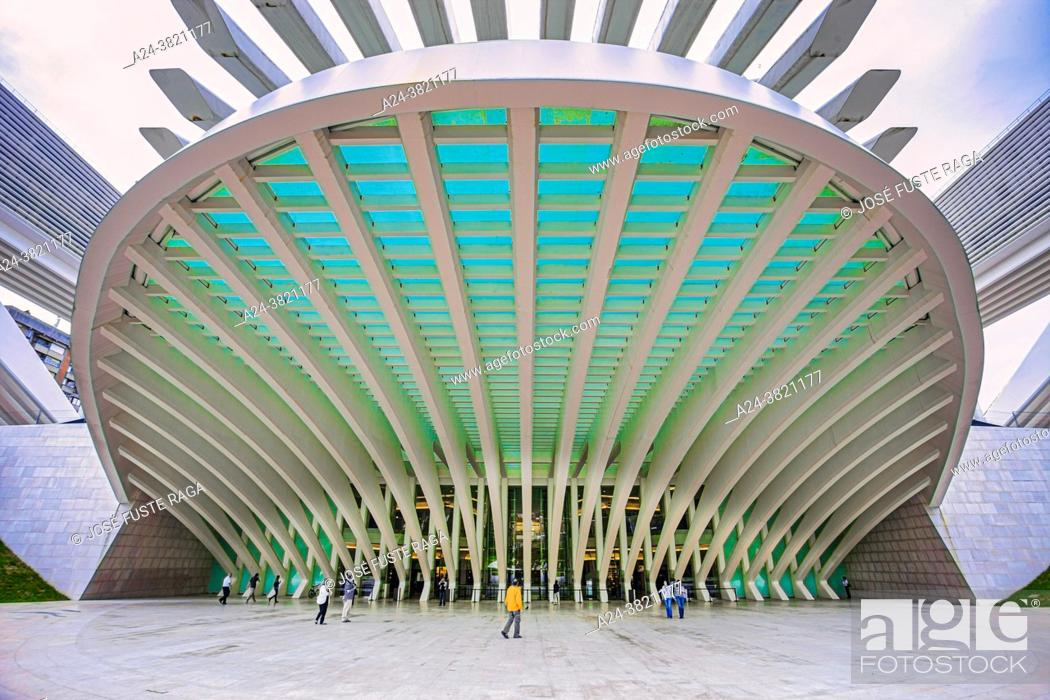 Stock Photo: Spain, Asturias, Oviedo City, Congress Palace, Calatrava Architect.