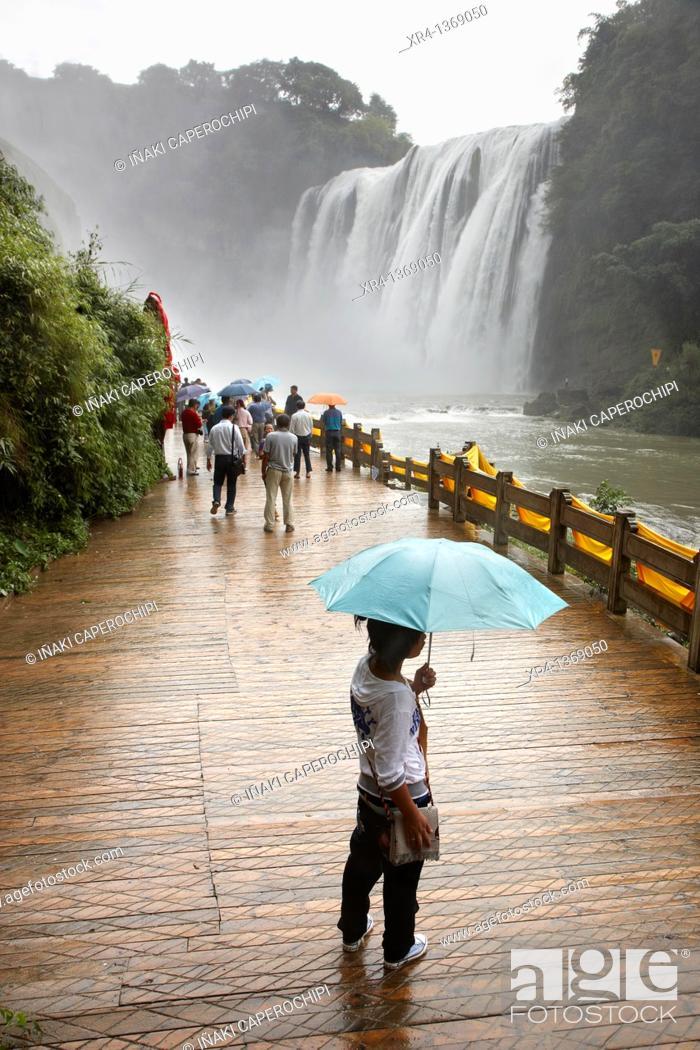 Stock Photo: Huangguoshu Waterfall, Huangguoshu, Guizhou, China.