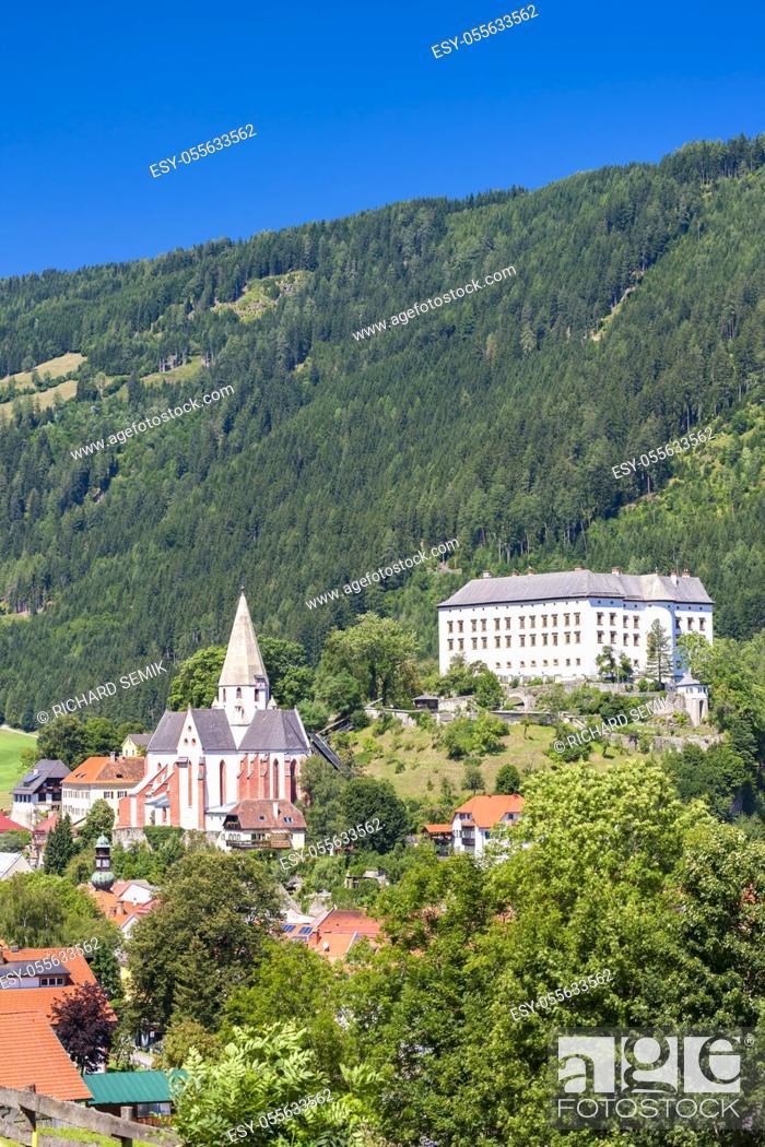 Stock Photo: Obermurau castle in Murau, Styria, Austria.