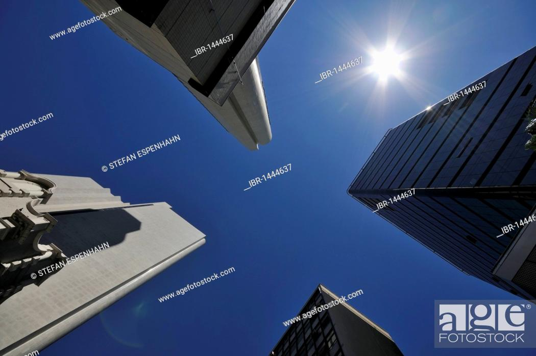 Imagen: High-rise buildings in Burg Street, downtown Cape Town, South Africa, Africa.