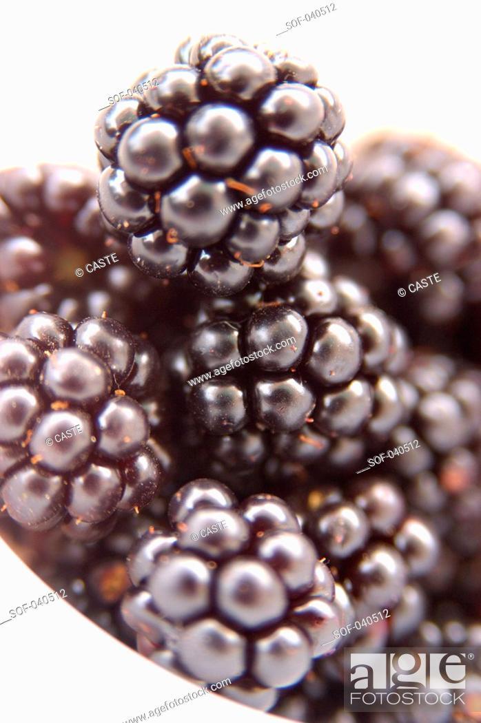 Stock Photo: blackberries in bowl.