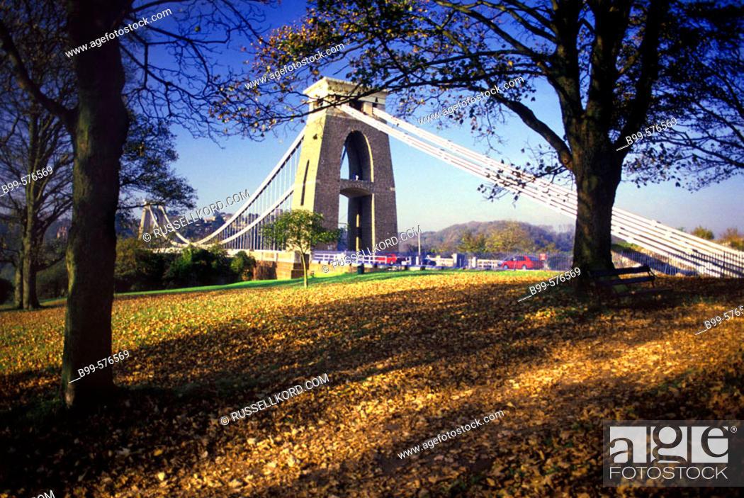 Stock Photo: Clifton Suspension Bridge, Bristol, England, Uk.