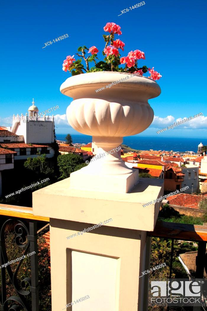 Stock Photo: La Orotava, Tenerife, Canary Islands, Spain.
