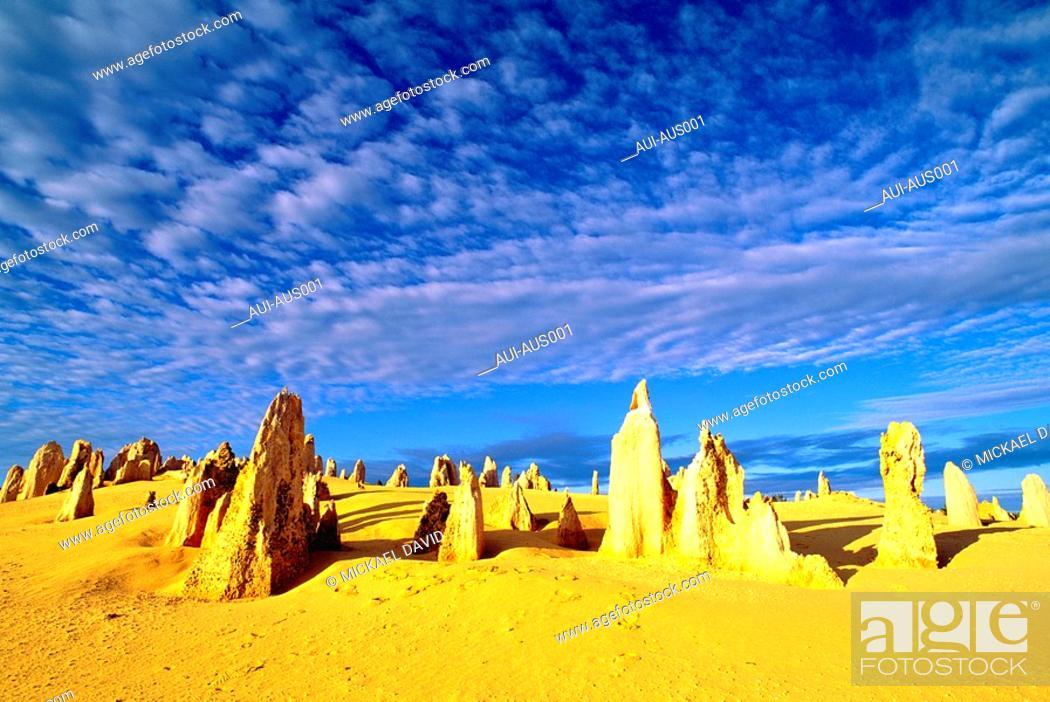 Stock Photo: Australia - Western - Pinnacles Desert.
