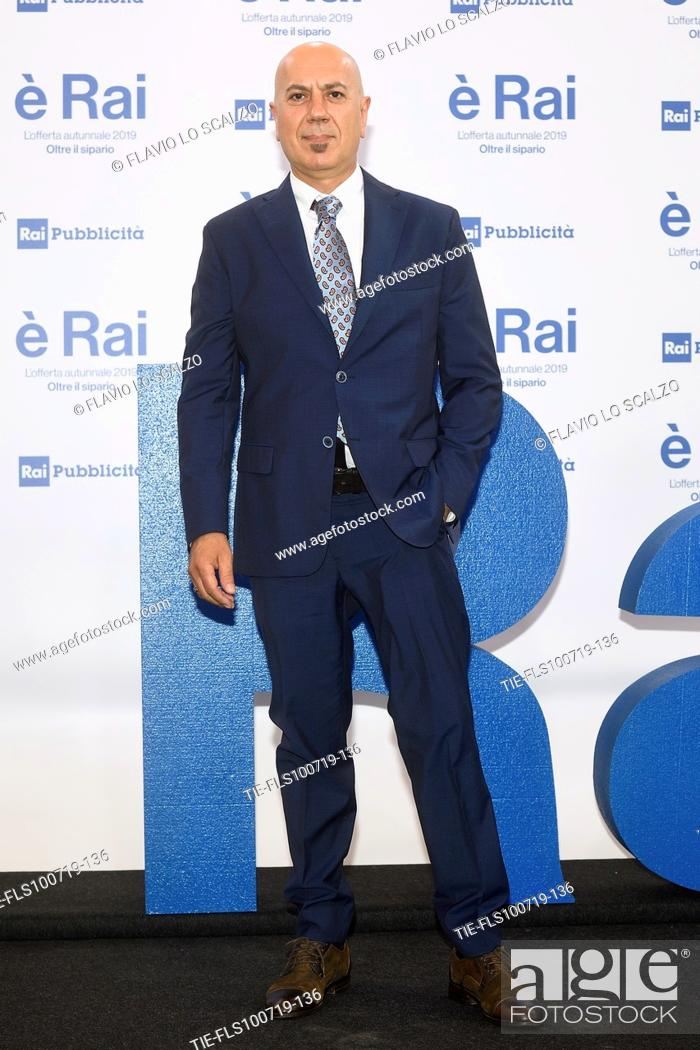 Stock Photo: Marco Marra during the Rai programming launch in Milan, ITALY-09-07-2019.